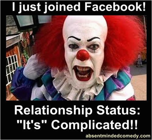 scary clown meme