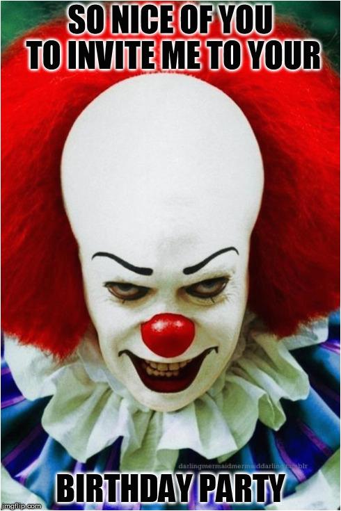 scary clown meme generator