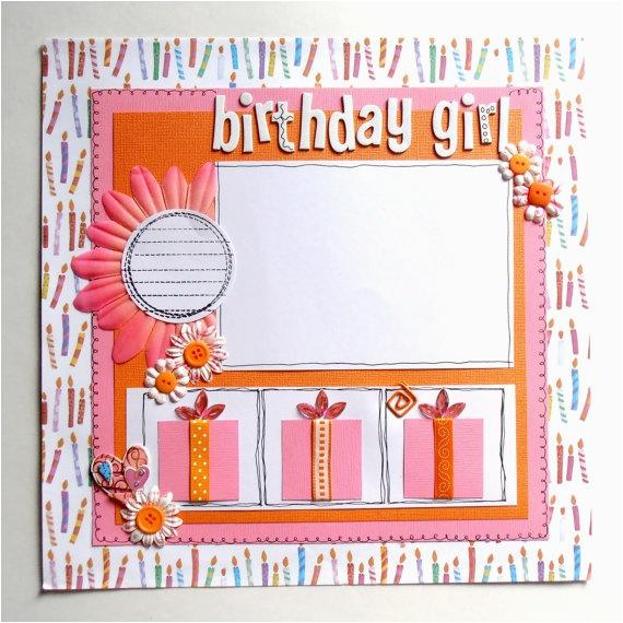 scrapbook birthday layouts