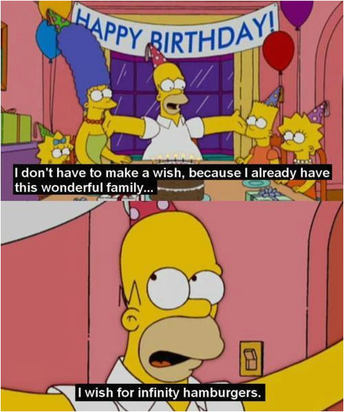 simpsons birthday quotes