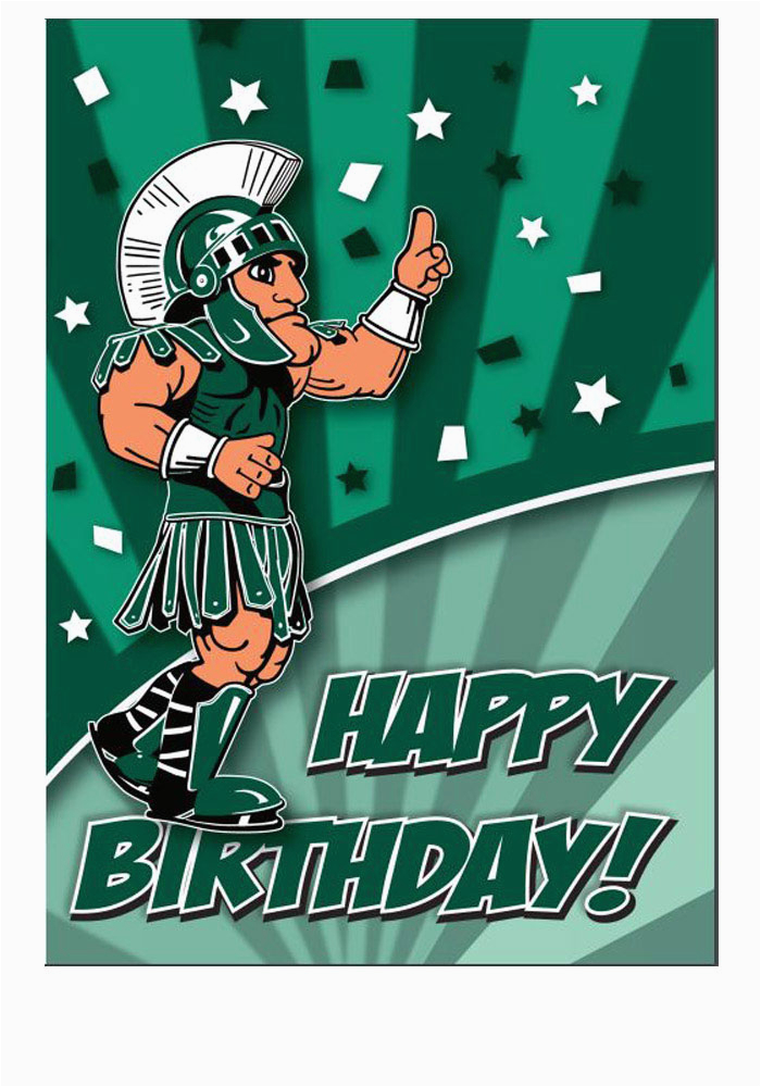 Spartan Birthday Meme Michigan State Spartans Mascot Happy Birthday Card 21230680
