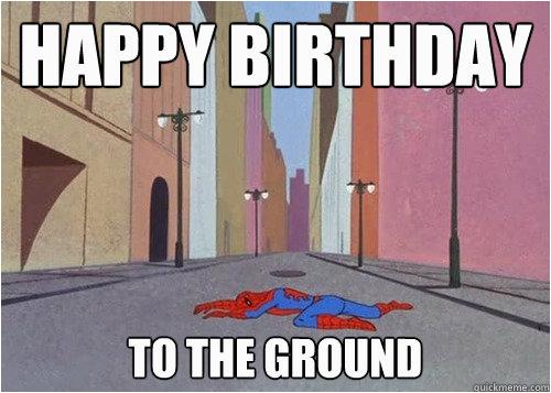 happy birthday memes with spiderman