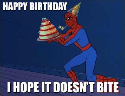 Spiderman Birthday Memes Superhero Birthday Memes Wishesgreeting
