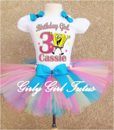 Spongebob Birthday Girl Outfit Spongebob Girls Pink Birthday Outfit