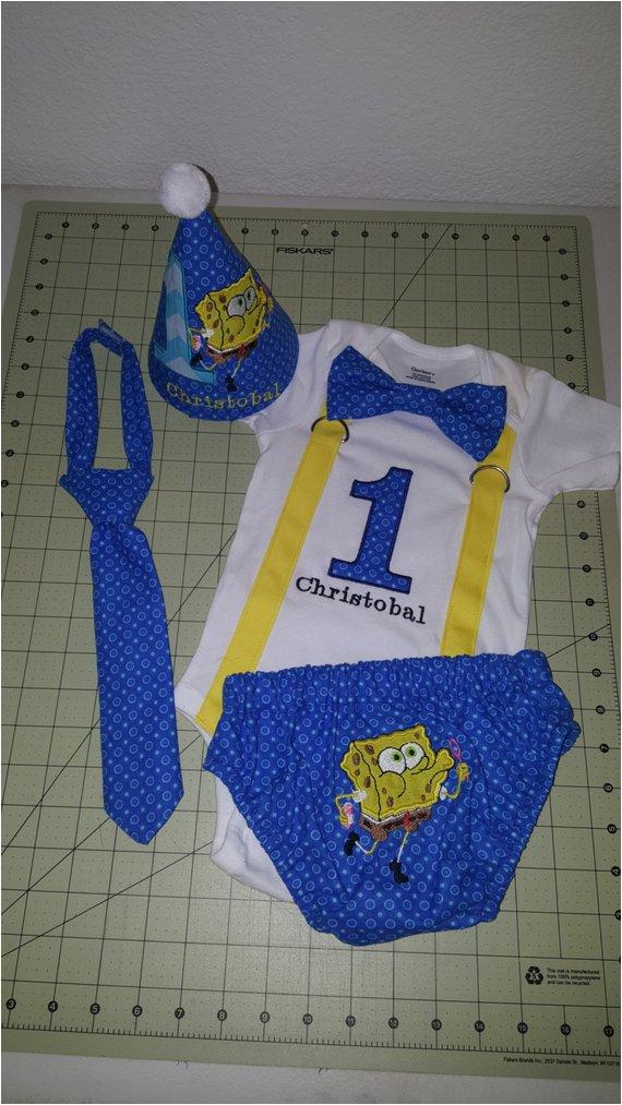 spongebob squarepants cake smash outfit
