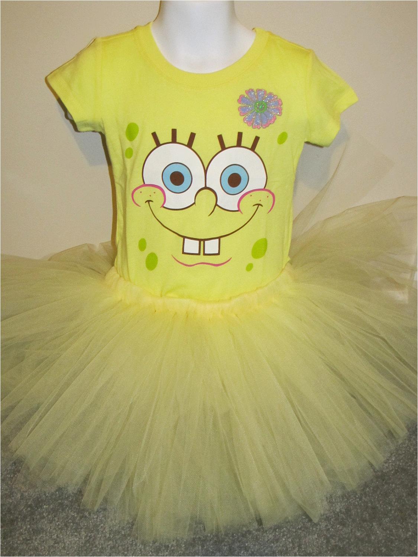 spongebob tshirt and tutu combo size 5t