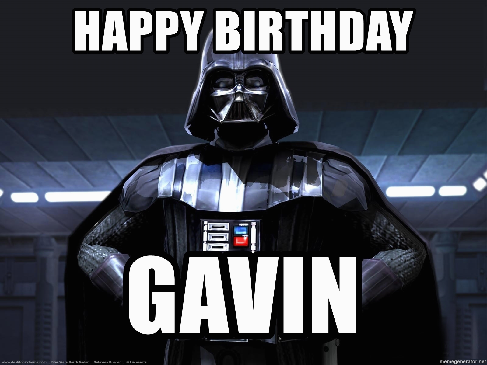 star wars darth vader happy birthday gavin