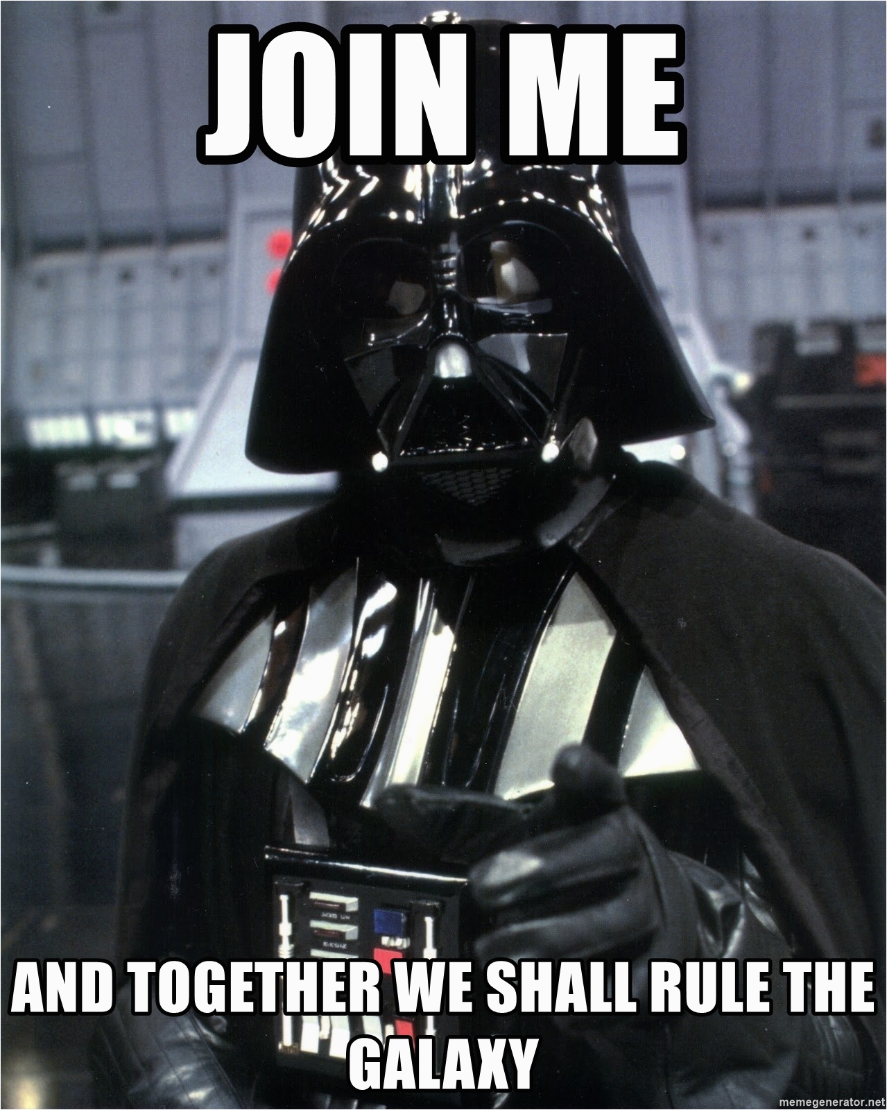 darth vader enlistment join me and together we shall rule the galaxy