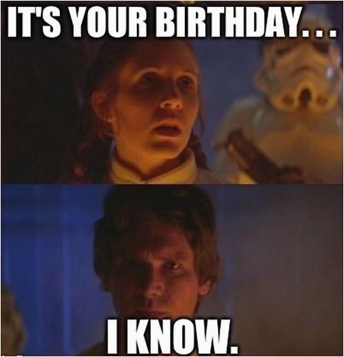 star wars birthday memes