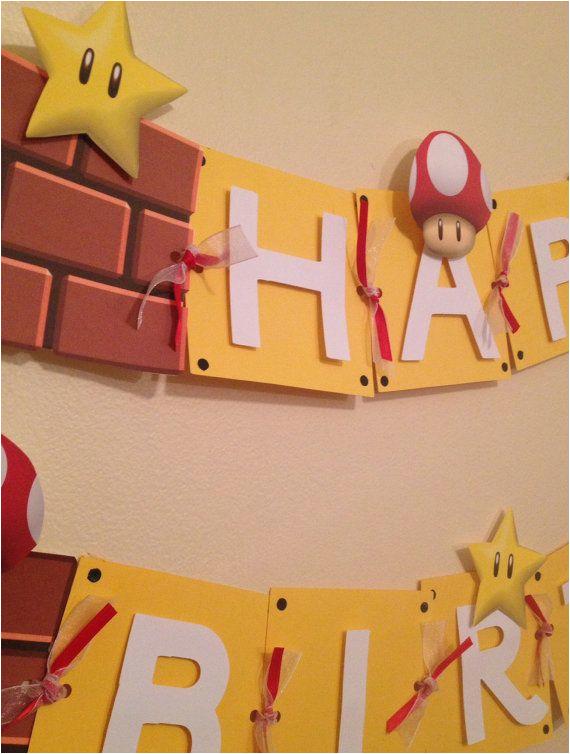 mario birthday banner