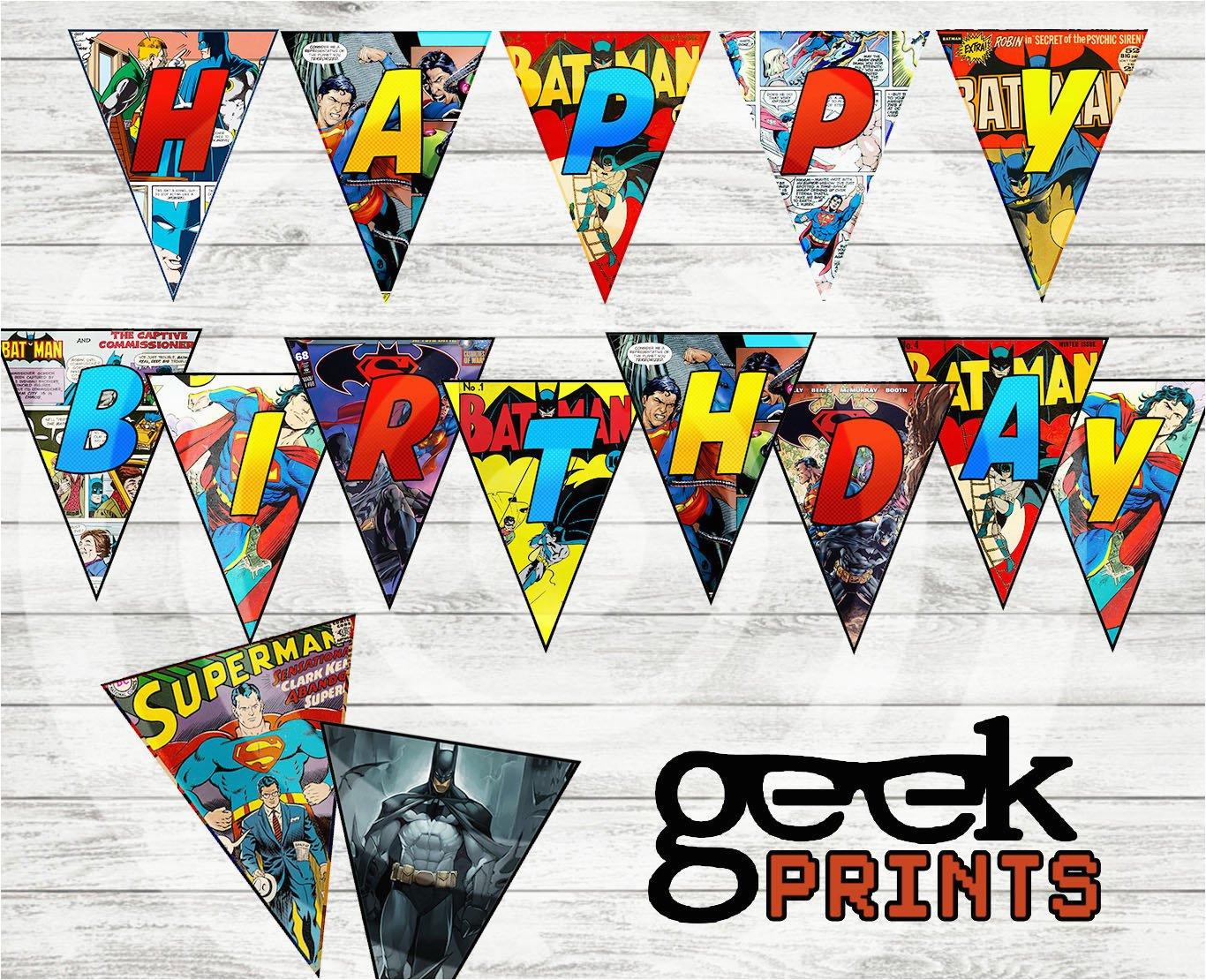 happy birthday banner batman vs superman