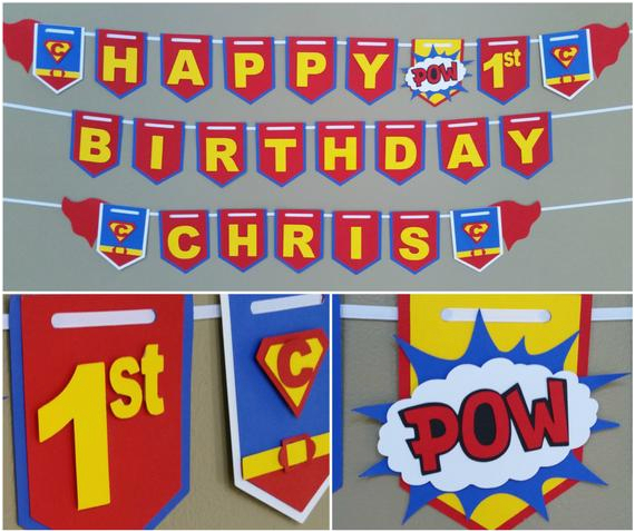superman happy birthday banner superman