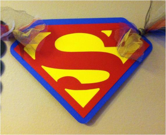 superman inspired happy birthday banner