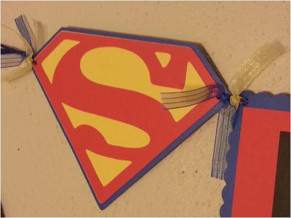 superman themedhappy birthday banner