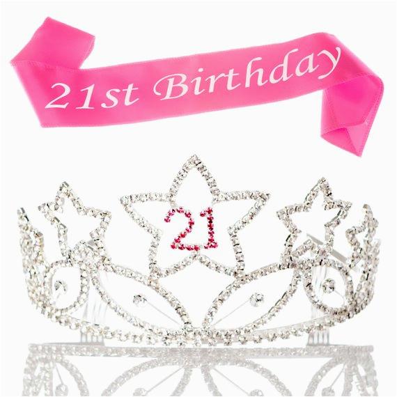 21st birthday tiara and sash 21