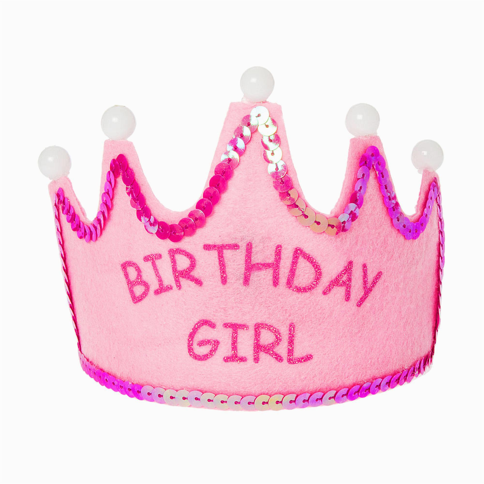 kids pink birthday girl light up tiara 141466