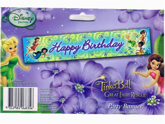 banner tinkerbell great fairy happy birthday party banner 150cmx30cm