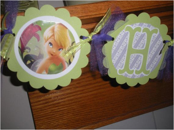 tinkerbell happy birthday banner and
