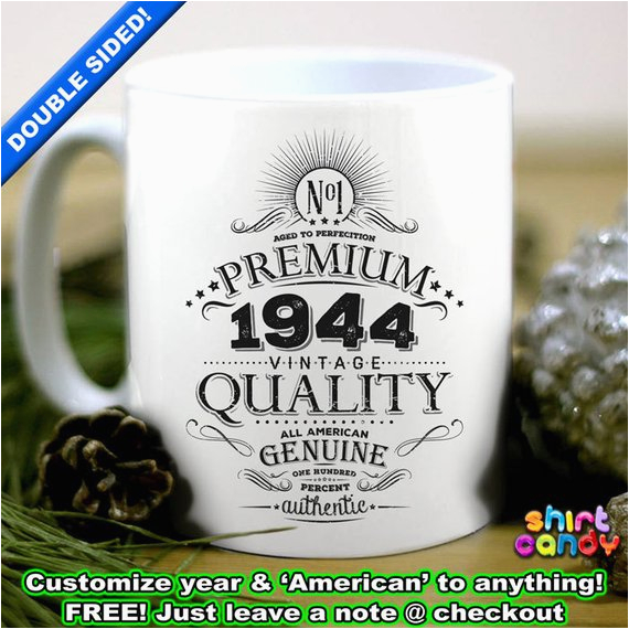 Unique 70th Birthday Gifts For Him 1945 Gift Personalized Vintage Coffee By