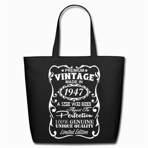 70th birthday gift ideas unique tote bag