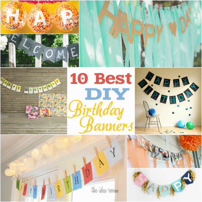 10 best diy birthday banners