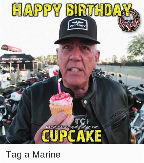 happy birthday victory www unclesamsmisquidedchildren com cupcake tag a marine 19391807