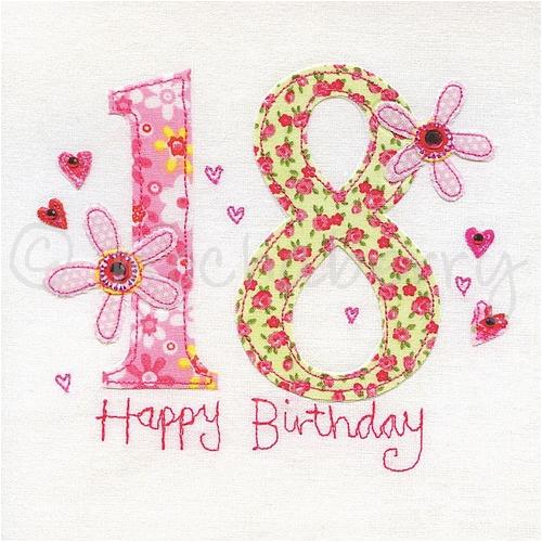 18th birthday card 778 p