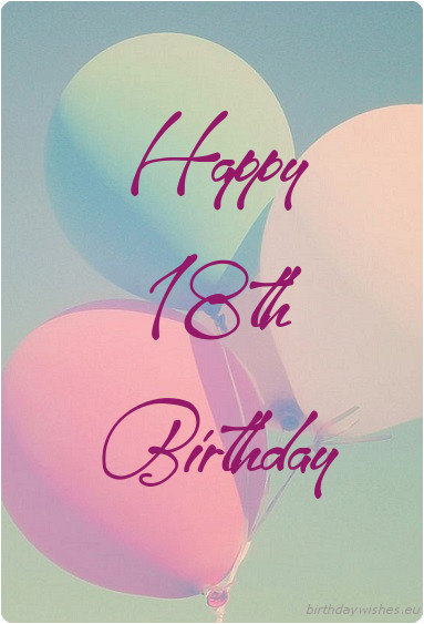 18th birthday wishes for girl