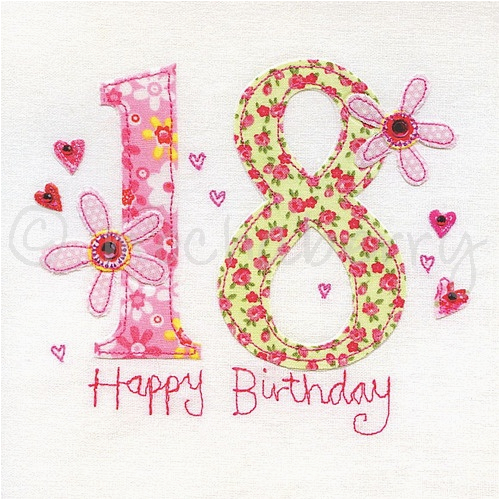 18th birthday card 778 p