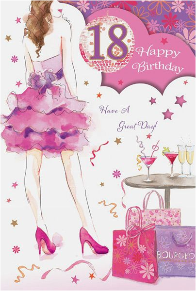 18th birthday girl card 33605 p