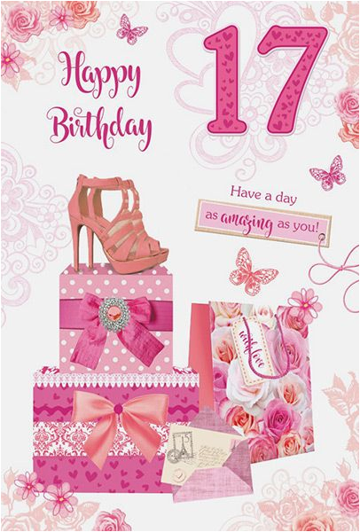 17th birthday girl card 33579 p
