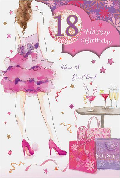18th birthday girl card 33605 p