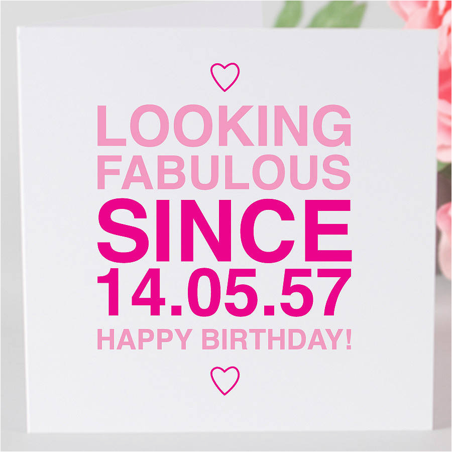 personalised birthday girl since card