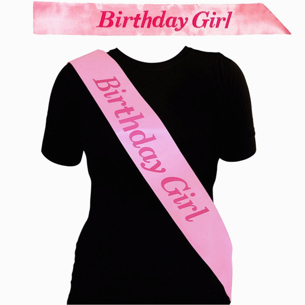 What to Say to A Birthday Girl Pink Birthday Girl Sash In Pink Birthday Party Accessory