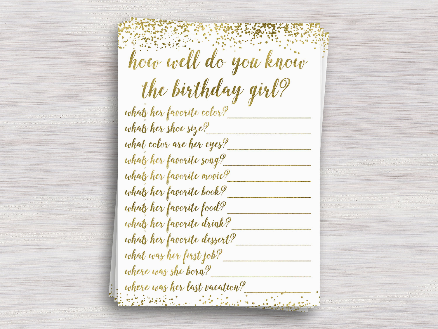 how well do you know the birthday girl