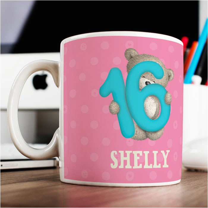 personalised mug hugs 16th birthday