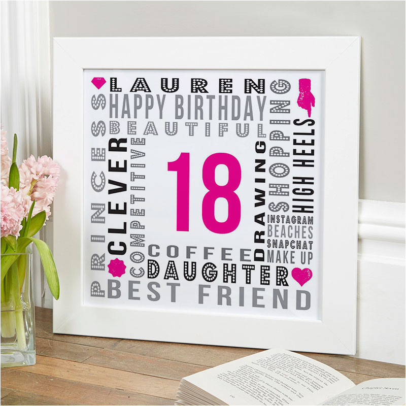 18th birhday gift personalised age print for girls