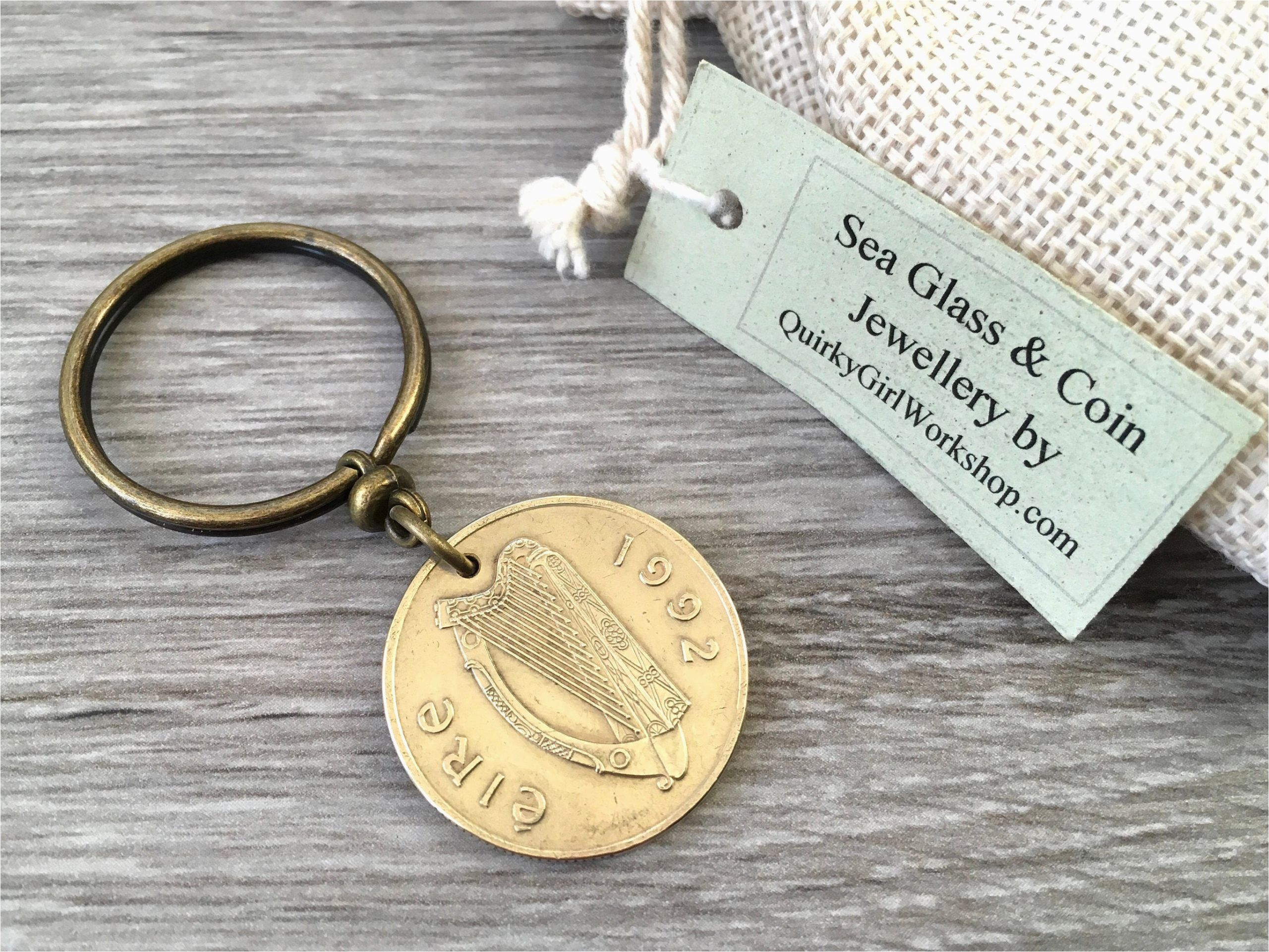 26th Birthday Gifts for Him 1992 or 1994 Irish Coin Keyring Ireland Keychain 24th or