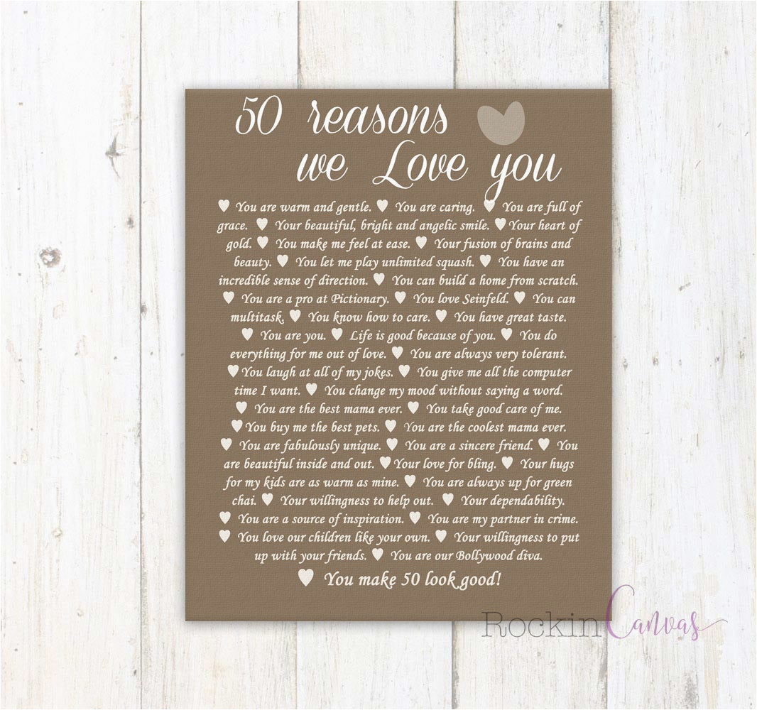 50th birthday present reasons we love