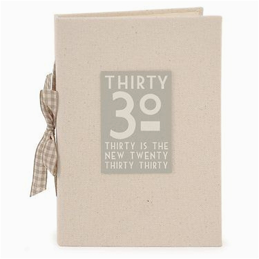 east of india linen 30th 30 is the new 20 birthday photo album boxed shabby chic 2308 p