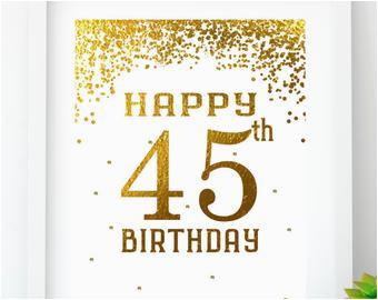 45th birthday party