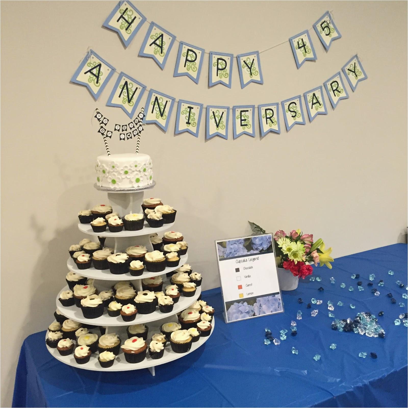 45th wedding anniversary surprise