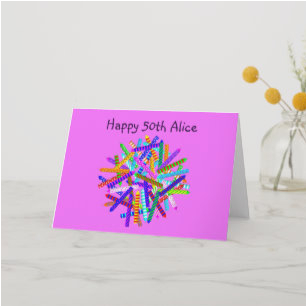 50th for him birthday cards