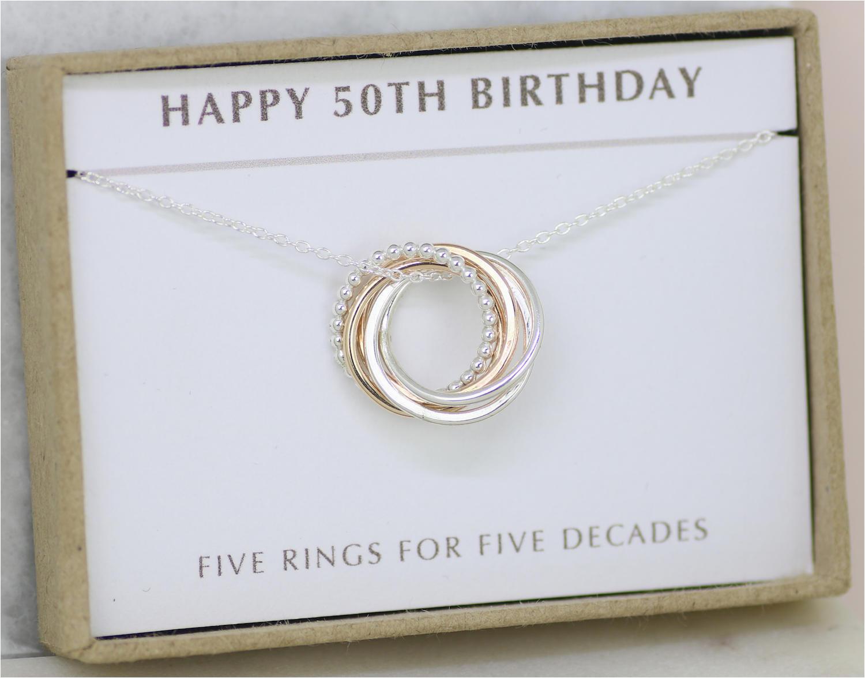 50th birthday gift 50th birthday jewelry