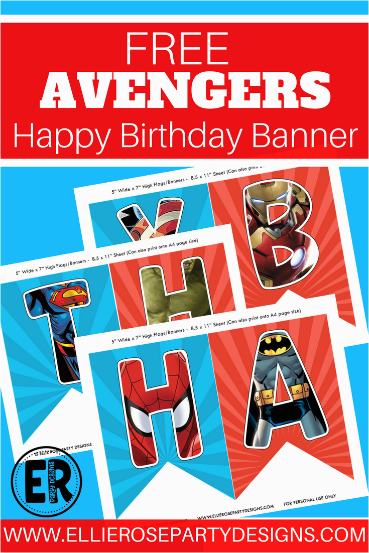 Avengers Happy Birthday Banner Free Printable the Avengers Happy Birthday Printables Looking for A Free
