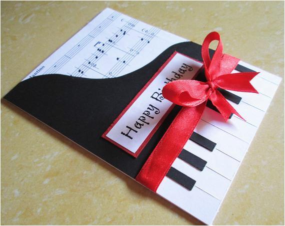 piano happy birthday card music themed