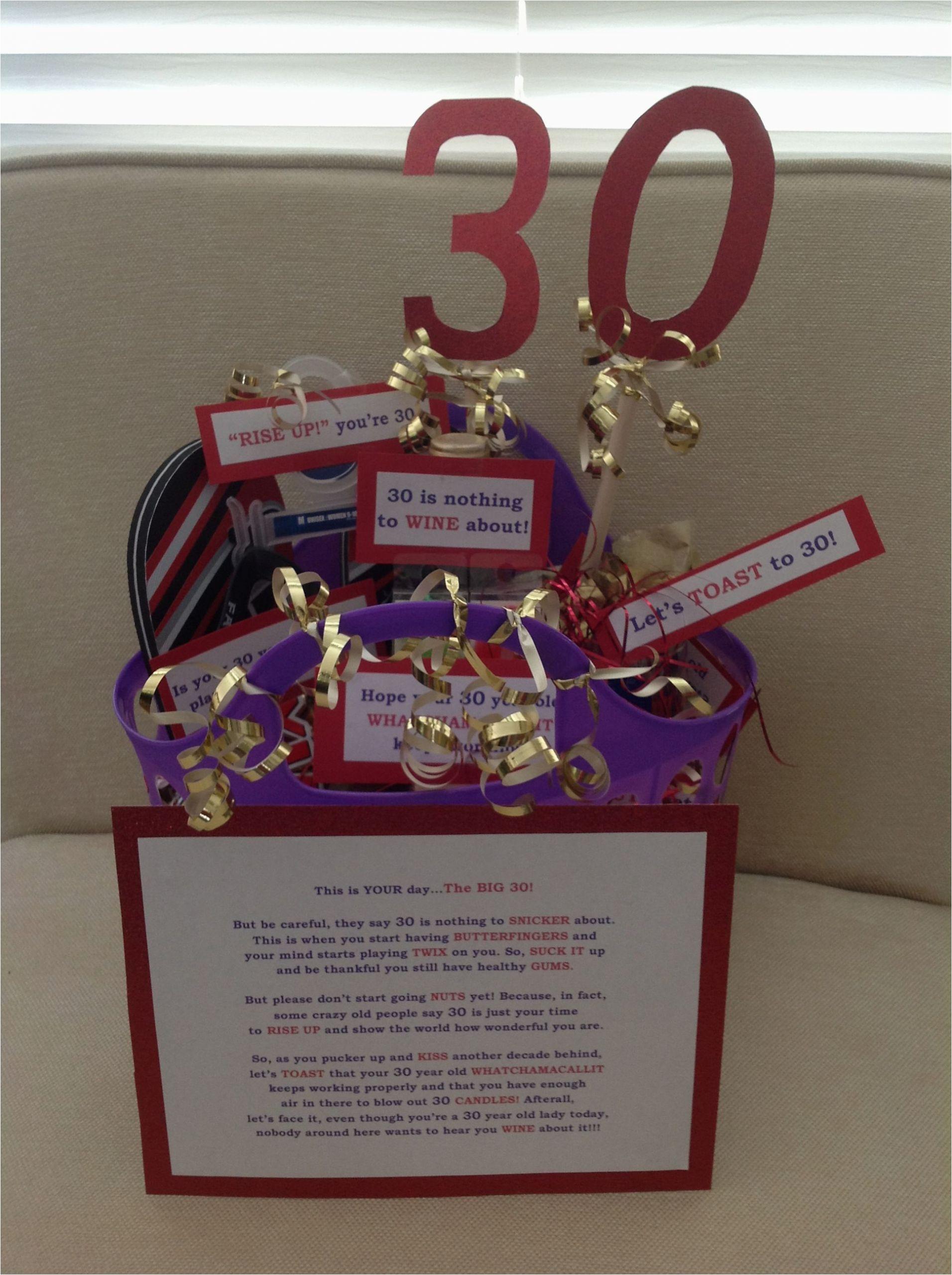 Best 30th Birthday Gifts for Boyfriend 30th Birthday Gift Basket Easy Diy and so Fun Gifts