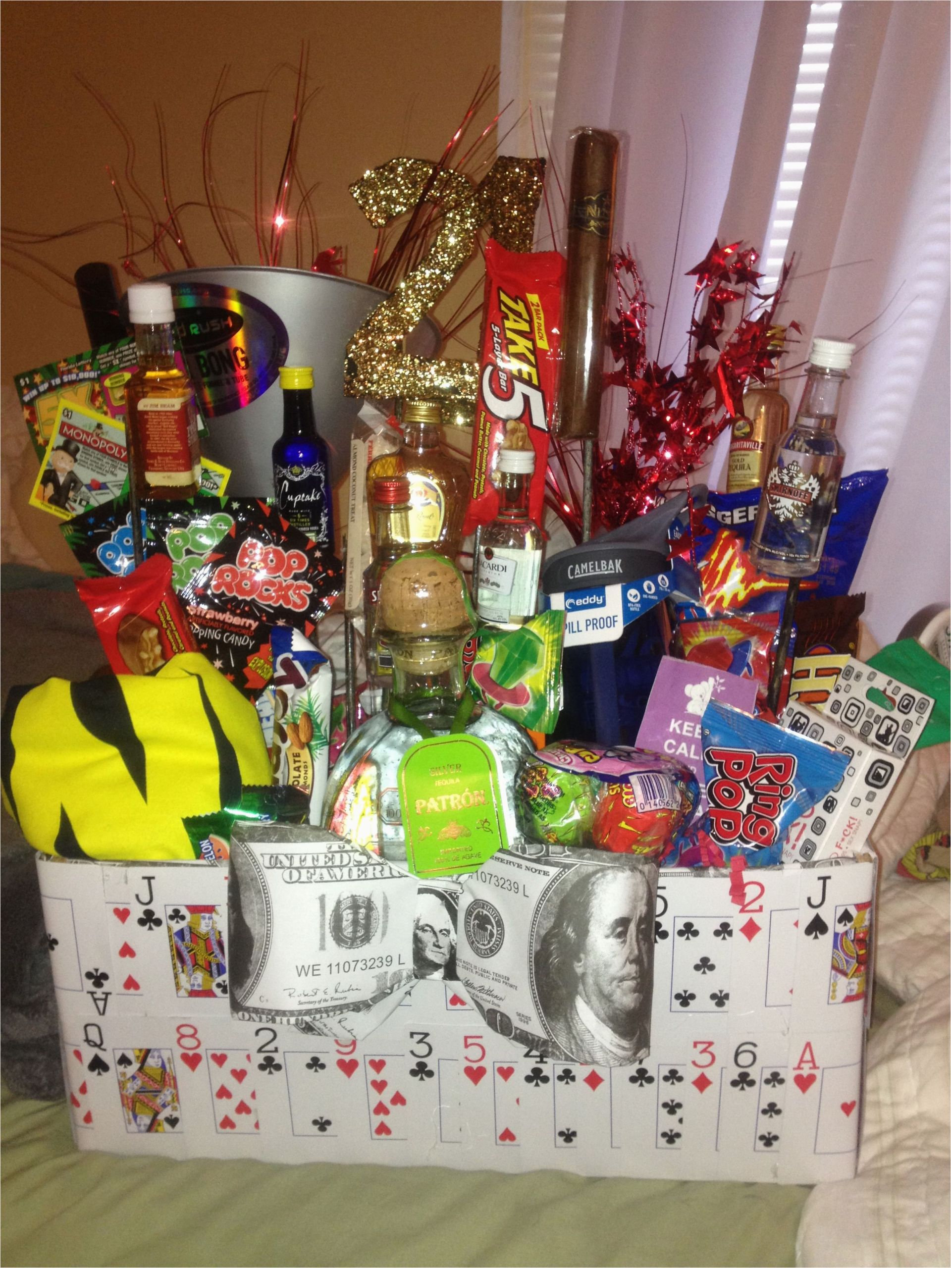 Best Birthday Gifts for Boyfriend 21st Boyfriends 21st Birthday Basket Cheers to the Freakin