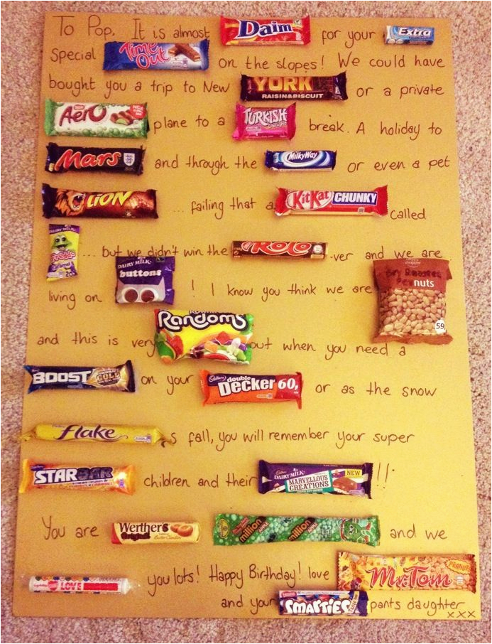 Best Birthday Gifts for Boyfriend In south Africa Chocolate Bar Birthday Card for My Dad Crafty
