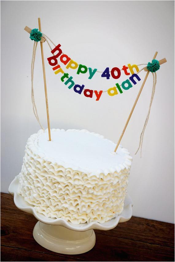 birthday cake banner birthday cake